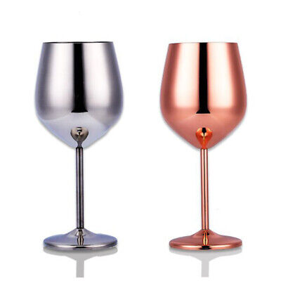 250ml Steel Wine Glass Shatterproof Goblet Copper Plated Champagne Cup UK! • 9.01£