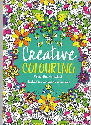 Adult Colouring Books Mindfulnes Anti-stress + Doodle Books Relax & Colour • 2.99£