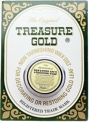 The Original Treasure Gold No Tarnising Wax Gilt 25g Metal Wood Glass Frames • 14.95£