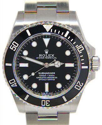 $ CDN20291.04 • Buy Rolex NEW Submariner No Date Steel Black Ceramic 41mm Watch Box/Papers 124060