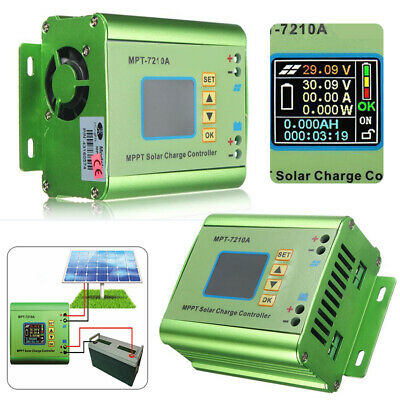 LCD Display MPT-7210A MPPT Solar Panel Charge Controller 24/36/48/60/72V Boost H • 31.99£