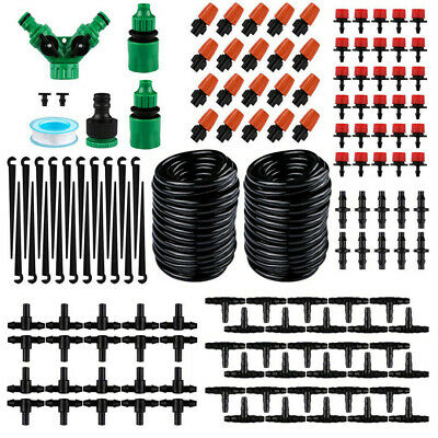 DIY 30M Automatic Watering Irrigation System Kit Garden Plant Micro Drip Jy • 18.99£