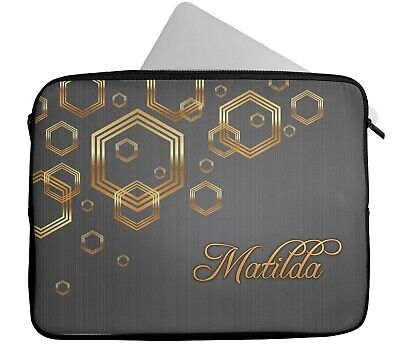 £15.99 • Buy Personalised Any Name Pattern Design Laptop Case Sleeve Tablet Bag 6