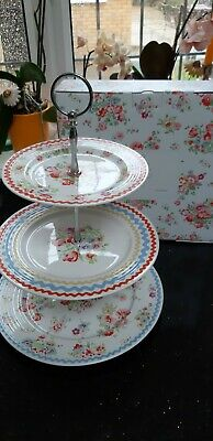 Cath Kidston 3 Tier Cake Stand Cranham With Original Box • 35.99£