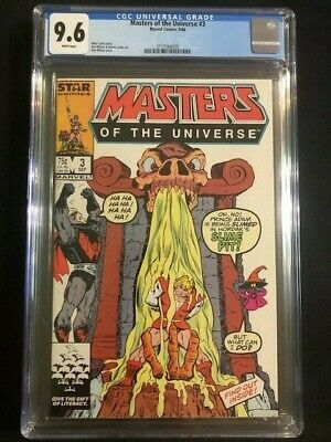 $75 • Buy MASTERS OF THE UNIVERSE #3 MOTU CGC 9.6 NM+ Near Mint Marvel 1st Hordak Cover