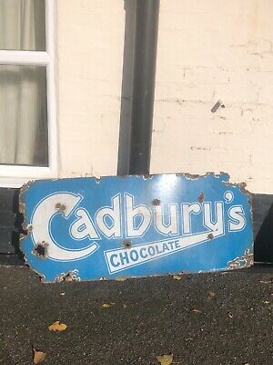 £470 • Buy Vintage Enamel Sign - Early Cadburys - Advertising -