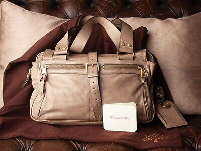 Genuine Mulberry Mabel Handbag, Taupe Lightweight Antique Leather, Fab!  • 155£