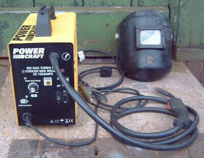 POWER CRAFT NO GAS MIG WELDER 130 230v METALWORK/CAR/CRAFT/DIY • 62£
