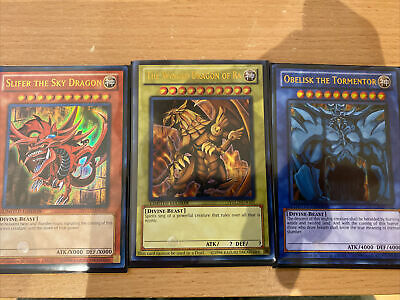YGLD-ENG 3 Egyptian God Card Set Limited Edition Mint YuGiOh Card • 15.99£