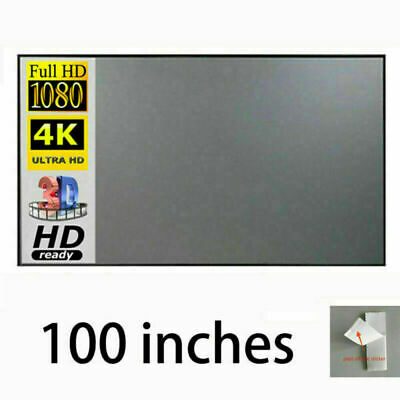 AU32.79 • Buy 100 Inch Projection Screen Material 4K HD Projector Screens Home Cinema Curtains