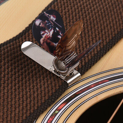 $ CDN7.35 • Buy Universal Guitar Picks Holder Clip Metal With 3pcs Picks(Guitar Picks G9N7
