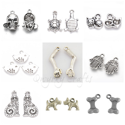£1.99 • Buy Tibetan Silver Charms Pendants Jewellery Card Making Crafts Antique Colour LOT 5