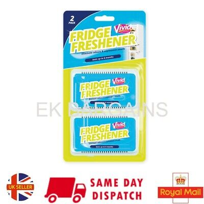 2 Pack Fridge Fresheners Long Lasting Keep Odours Away Air Neutraliser Brand New • 2.47£