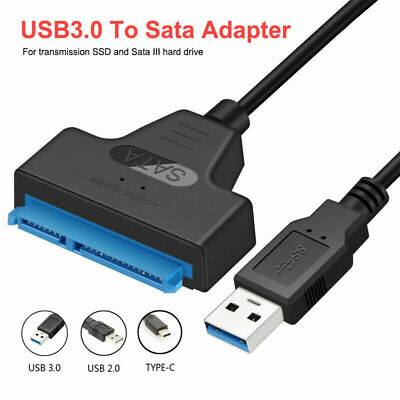 AU9.89 • Buy USB 3.0 To SATA 22 Pin 2.5 Inch Hard Disk Drive SSD Adapter Connector Cable Lead
