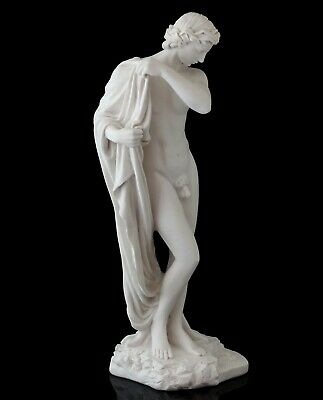 Narcissus Greek Myths Hero Marble Statue Stone Figurine Nude Male Sculpture 11  • 60.05£