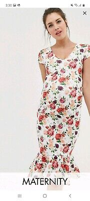 AU30 • Buy Asos Floral Maternity Dress