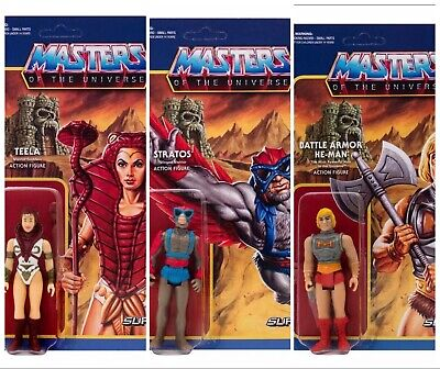 $19.98 • Buy ReAction Super7 Masters Of The Universe Action Figures He-Man Stratos Teela MOTU