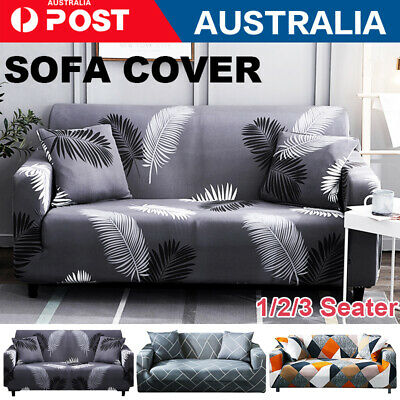 AU25.69 • Buy EASY Stretch Couch Sofa Lounge Covers Recliner 1 2 3 Seater Dining Chair Cover