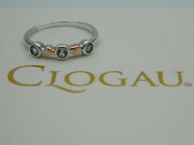 Clogau Silver & 9ct Rose Gold Tree Of Life Clover Ring RRP £79.00 Size T • 65£