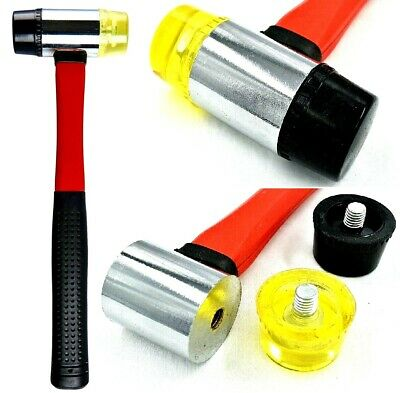 40mm Double Faced Rubber Hammer Nylon Head Tile Window Glazing Mallet Tools  • 7.99£