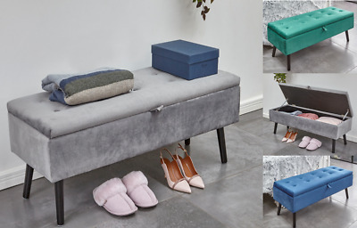 Storage Ottoman Seat Stool Bench Chest Toy Box Pouffee Bedroom Footstool Trunk • 59.99£