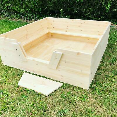 Dog Whelping Box With Pig Rails Puppy Small Medium Large Gate Door • 115£