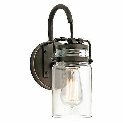 Wall Lamp Glass Umbrella IN Bronze Antique Clear Arco Industrial Design • 158.15£