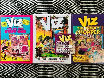 VIZ ANNUALS X 3 And THE SEXIST BOOK OF RECORDS *Excellent Condition* • 5£