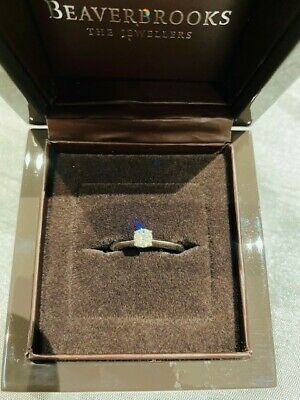 18ct White Gold Solitaire Diamond Engagement Ring, Size K, 0.24 Carat • 200£