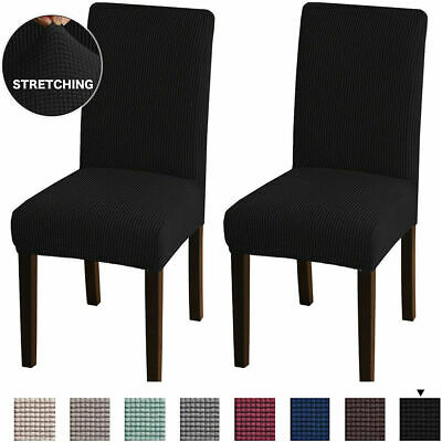 AU5.99 • Buy Dining Chair Covers Spandex Jacquard Slip Cover Stretch Wedding Banquet Party AU