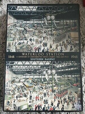 WATERLOO STATION 1848 - 1948 1000 PIECE GIBSONS JIGSAW. Lovely Condition.  • 6.99£