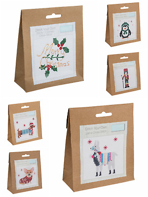 £3.99 • Buy Christmas Counted Cross Stitch Kit - Beginners/Childrens Starter - Trimits