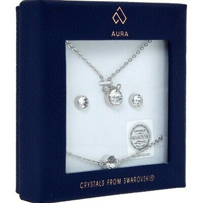 Women's Jewellery Set - Aura Crystals From Swarovski RRP £60 • 26£