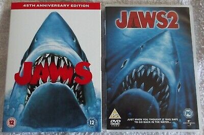 Jaws 45th Anniversary Edition & Jaws 2 (DVD) • 3.50£