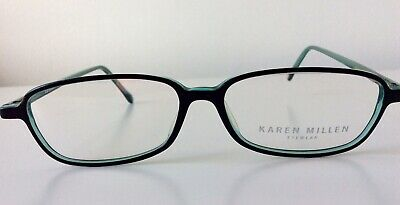 Karen Millen Black/Turquiose Plastic Rectangle Eyewear Frames Never Used  • 15£