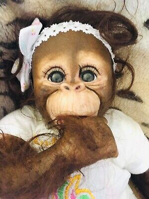 Adorable Reborn Baby Monkey Chimpanzee • 95£