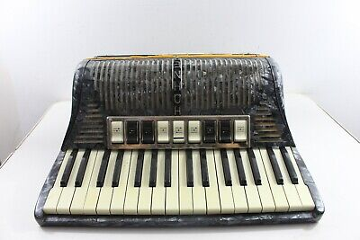 $139.99 • Buy Vintage Hohner Accordion Tango III M Marble Look Musical Instrument With Case
