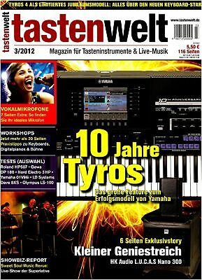 AU10.12 • Buy Yamaha Tyros - Workshops Digital Pianos Keyboards + Bühne IN The Tastenwelt