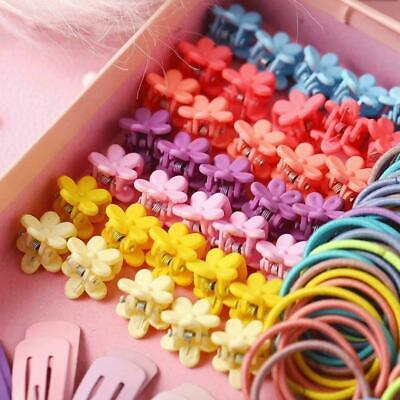 $ CDN4.37 • Buy 220Pc/set Candy Color Girls Hair Clip Rope Ponytail Accessories Kids Holder U5W7