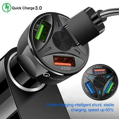 AU13.79 • Buy USB 3.0 3 Ports 3A Hub Car Charging Power Auto Adapter For QC Fast Quick Charger