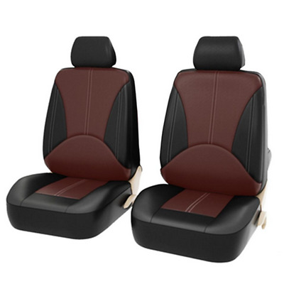 $49.40 • Buy Black Car Seat Covers Front Rear Full Set Synthetic Leather Protectors Truck SUV