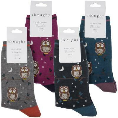 Thought Womens Bamboo Socks, 'Night Owl', Super-Soft : Multipack Option • 6.95£