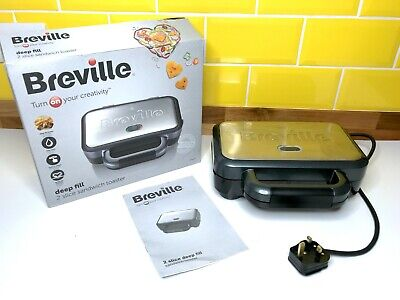 Breville Deep Fill Sandwich Toaster VST041 - Graphite & Stainless Steel - Used • 17.99£