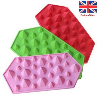 Diamonds Crystals Gems Silicone Bakeware Mould New Ice Candy Chocolate Mould UK • 3.79£