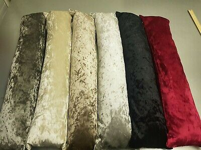 EX Large Crushed Velvet Draught Excluder Draft Wind Stopper Door Cushion-UKMADE • 14.95£