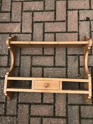Wooden Wall Mounted Display Unit. Pine Spice Or Plate Rack. • 15£