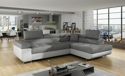 Brand New Malaga Corner Sofa Bed With Storage Quick Delivery • 729£