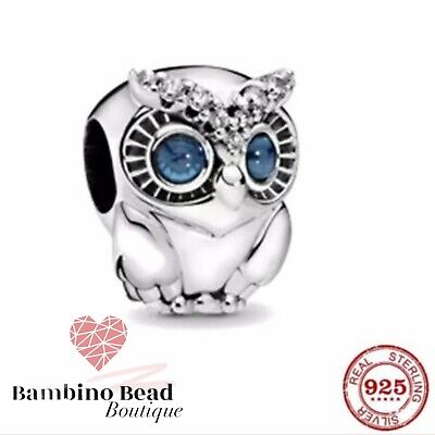 Silver Charm Pandora Fitting 925 Beautiful Sparkly Owl. With Cleaning Cloth • 12.99£