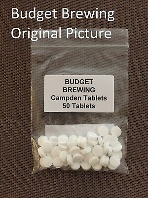 50 Campden Tablets For Homebrew Wine & Cider Making And Equipment Sterilisation • 3.75£