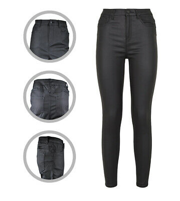 Womens New Look Skinny Leather Coated Lift & Shape Jeans Plus Size 14 To 24 • 14.97£